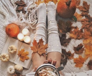 autumn, caffe, and happy image