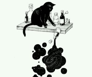 cat, art, and awesome image