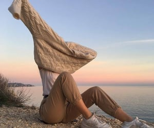 aesthetic, outfit, and sunset image