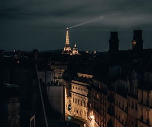 night and paris image
