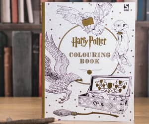 coloring book, colouring book, and harry potter image