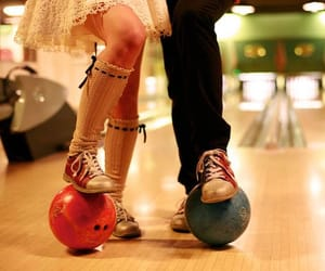 bowling, love, and couple image