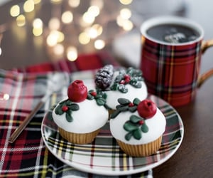 bakery, cupcakes, and christmas image