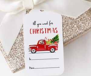 etsy, simple, and holiday gift tag image