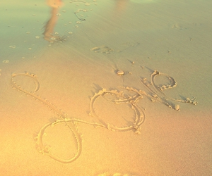 beach, photograpy, and love image