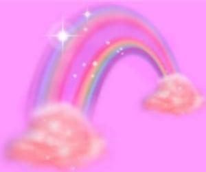 rainbow, pink, and rainbowcore image