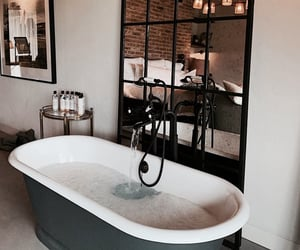 bathroom, bubbles, and home image