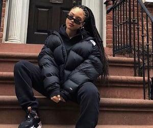 black, black clothes, and black girl image