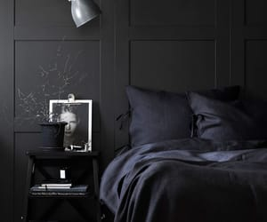 black and bedroom image