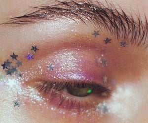 makeup, glitter, and aesthetic image