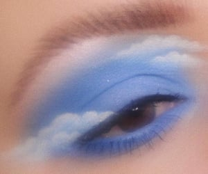 makeup, blue, and aesthetic image