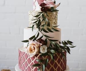 cake, food, and wedding cake image