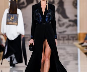 black, dress, and haute couture image