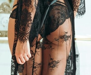 lingerie, black, and lace image