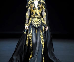 black, dragon, and gold image