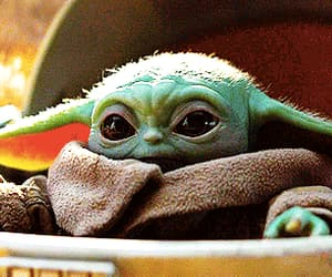 adorable, baby yoda, and the mandalorian image
