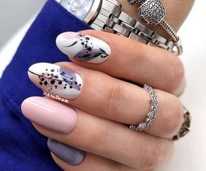 bracelet, nail art, and nails image