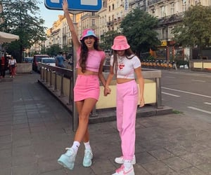 outfits, pink, and fit image