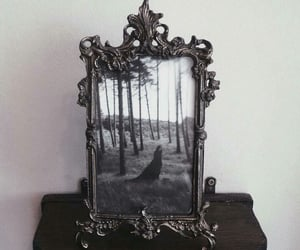 mirror, dark, and frame image