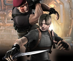 knife, leon kennedy, and krauser image