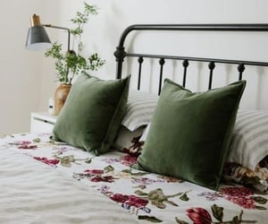 awake, flowers, and bed image