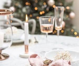 christmas, decor, and dinner image