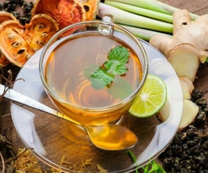 drink, ginger, and tea image