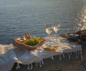 sea, summer, and wine image