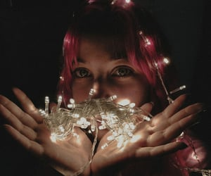 aesthetic, pink, and christmas image
