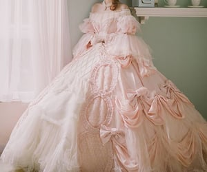 ball gown, bows, and frills image
