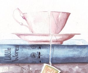 book, tea, and wallpaper image