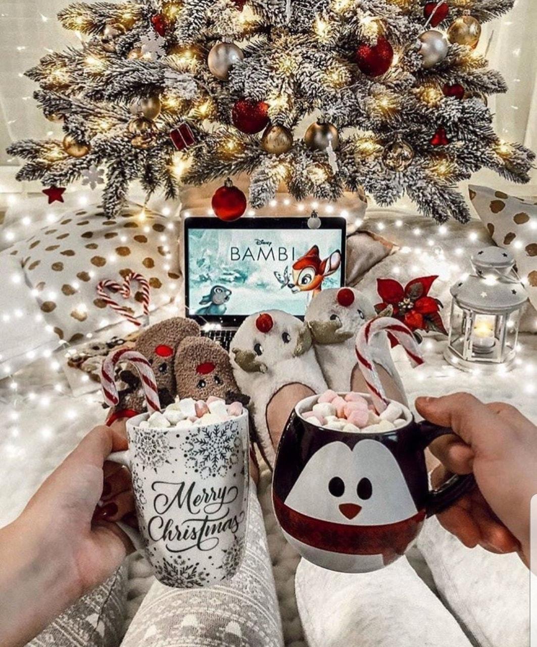 christmas, bambi, and christmas tree image
