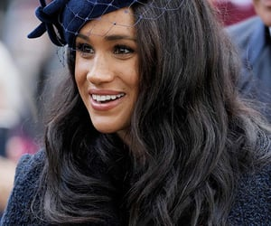 brunette, pretty, and meghan markle image