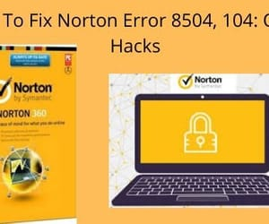 norton erroe code 8504 and 104 image