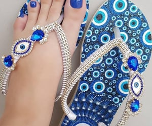 arabic, evil eye, and shoes image