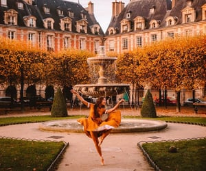 art, autumn colors, and ballerina image
