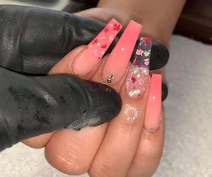 accessories, flowers, and nail art image