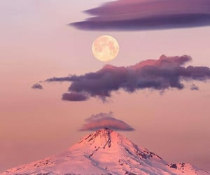 nature, mountains, and moon image