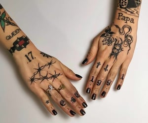 art, body art, and fingers image