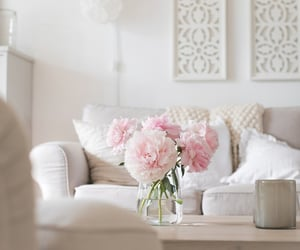 interiors, modern interiors, and decorations with flowers image