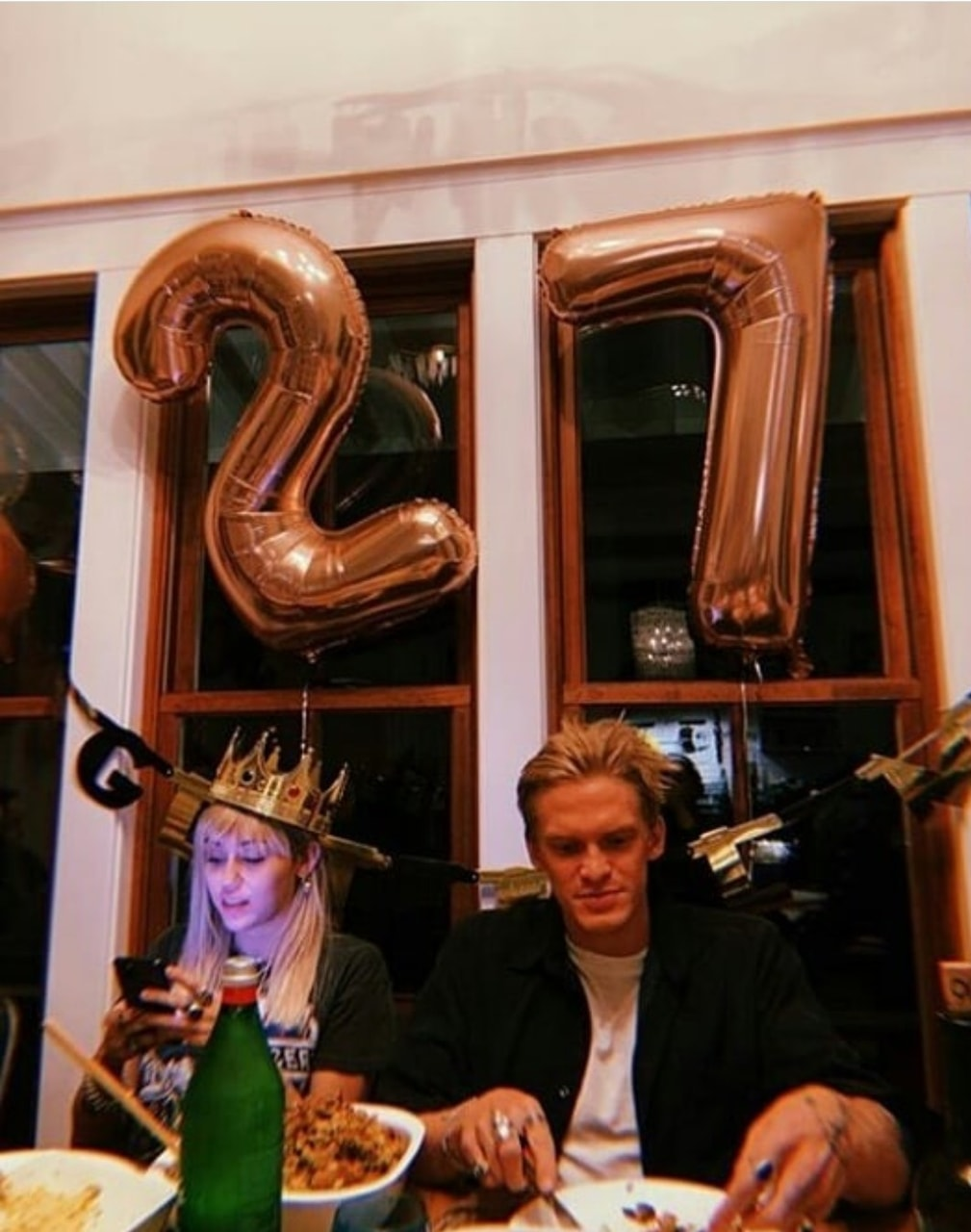 miley cyrus, 27, and cody simpson image