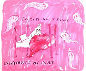 ghost, pink, and sad image