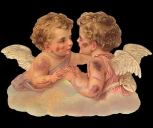 aesthetic, angels, and art image