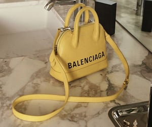 bag, Balenciaga, and yellow image