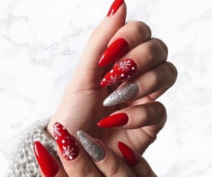 christmas, luxury, and nails image