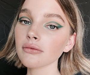 eye, eyeliner, and girls image