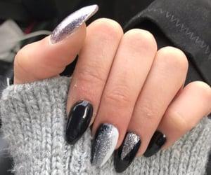 black, geometric, and glitter image