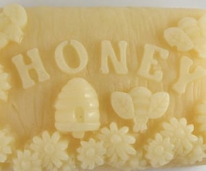 honey, soap, and aesthetic image