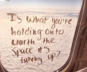 words, plane, and quotes image