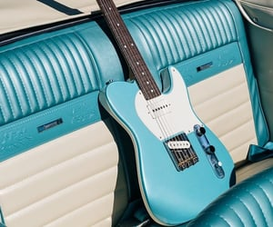 blue, guitar, and 60s image